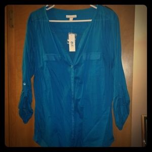 Bright Blue Blouse